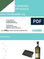 Ian McNicoll Digital Assembly - HOPD Workshop Slides