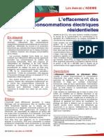 Etude de l'Ademe sur l'effacement diffus (2012).