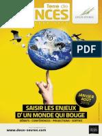 Programme Terre de sciences janvier - août 2015