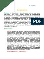 ricerca cioccolato - relazione 2003