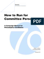 How To Run For Committee Person Manual