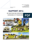 """Rapport de Gestion des ressources humaines et  financières 2014 du Réseau """"Sortir du nucléaire"""""""