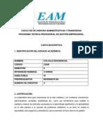 Carta Descriptiva Calculo Diferencial