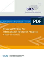 DIES- Proposal Writing for International Research Projects