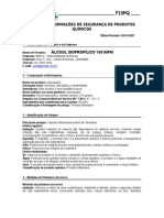 FISPQ alcool isopropilico