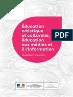 Education Artistique et Culturelle - communiqué