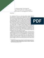 Historische Anthropologie, Soziologische Anthropologie, Philosophische Anthropologie. ›Menschliches‹ Leben in soziologischen Theorien