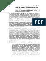 Honduras ante el Consejo de Derechos Humanos de la ONU en la segunda ronda del Examen Periódico Universal (EPU)