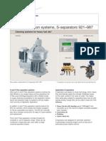 Flex Separation Systems, S-separators 921–987 - EMD00233EN