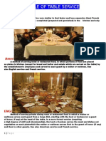 Style of Table Servicesdf