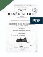 Histoire Des Monastères de La Basse-Égypte