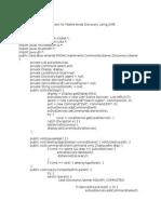 Exp 7 - J2ME Program for Mobile Node Discovery