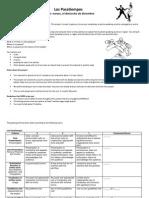 los pasatiempos project handout and rubric