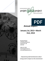 Annual Report - Jan 1, 2013 - March 31, 2014