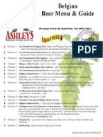 Ashley's 2015 Belgian Beer Festival Program