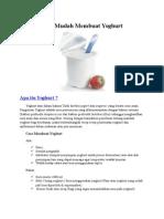 Cara Mudah Membuat Yoghurt
