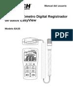Manual Termohigrometro EA25 UMsp