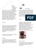 Separacao de Misturas - Quimica