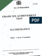 Gsat Maths