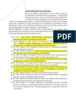 ANTECEDENTES HISTÓRICOS DE LA AUDITORIA ADMINISTRATIVA