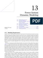 Power System Dynamic Modeling