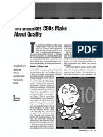 Ten Mistakes Ceos Make About Quality