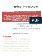 Lecture 1 Metal Casting Introduction