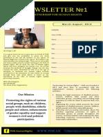PHR Newletter #1 March-August