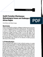 Health Promotion Effectiveness in Africa