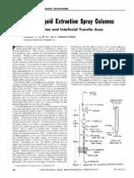Liquid-Liquid Extraction Spray Columns
