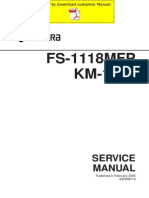 KYOCERA FS-1118MFP KM-1820 Service Manual Pages
