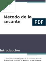 Método de La Secante