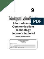 231215526 TLE ICT Computer Hardware Servicing Grade 9