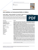 Tekgul S Et a Eur Urol 2012 62(3) 534 EAU Guidelines on Veicoureteral Reflux in Children