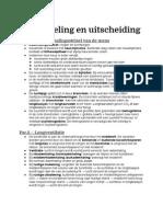 Biologie; Gaswisseling en uitscheiding