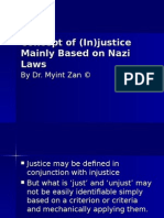 Concept of (in)Justice Mainly Based on Nazi