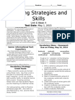 u6w4 reading skills and strategies