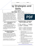 u6w5 reading skills and strategies