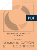 The Notion of 'Self' in Buddhism (Communication and Cognition 32, 1-2, 1999)