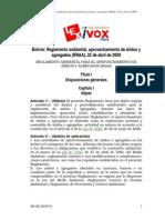 Reglamento Ambiental de Aprovechamiento de Áridos y Agregados RAAA