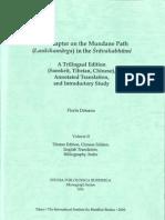 The Chapter on the Mundane Path (Laukikamarga) in the Sravakabhumi Vol 2