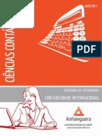 Caderno de Atividades Impressao Cco7 Contabilidade Internacional