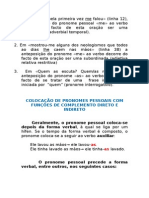 Dcc_gramática_colocação Do Pronome Pessoal CD e Ci_alunos x