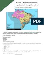 Geografia São Francisco (Atividade Complementar)
