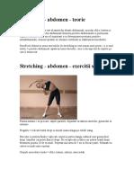 Stretching - Abdomen - Teorie