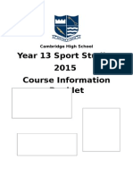 2015 y13 sport studies course outline