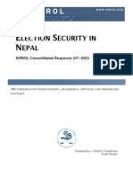 Election Security in Nepal (CR 07-002)