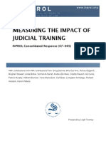 Measuring the Impact of Judicial Training (CR 07-005)