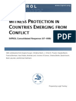 Witness Protection in Countries Emerging from Conflict (CR 07-008)