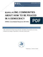 Educating Communities About How to be Policed in a Democracy (CR 08-005)